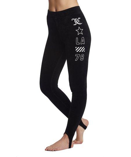 d49cbd387c9a3 love this product Pitch Black Stretch Velour Stirrup Leggings - Women