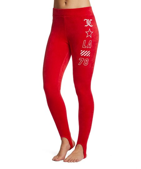 771bb854c34a3 Juicy Couture Cordial Stretch Velour Stirrup Leggings - Women | Zulily