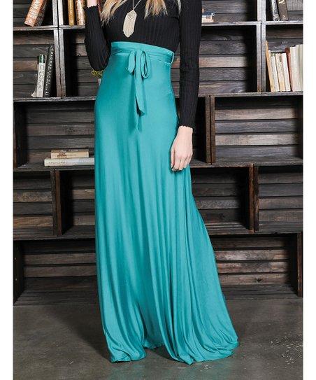 5bac8cd583 Milly Penzance Emerald Tie-Belt High Waist Maxi Skirt - Women & Plus ...