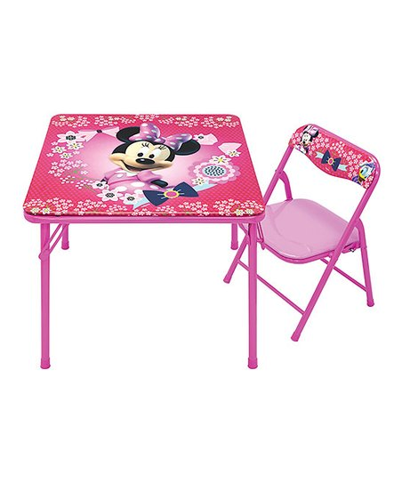 Super Jakks Pacific Minnie Mouse Junior Table Folding Chair Zulily Customarchery Wood Chair Design Ideas Customarcherynet