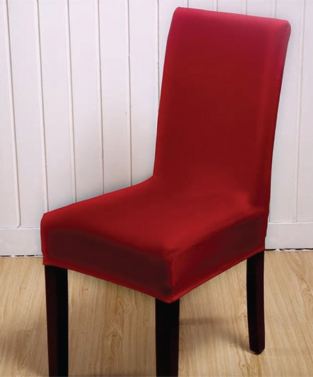Astonishing Lexi Park Red Solid Chair Cover Gmtry Best Dining Table And Chair Ideas Images Gmtryco