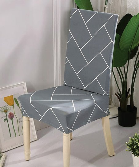 Outstanding Lexi Park Gray White Rebecca Chair Cover Gmtry Best Dining Table And Chair Ideas Images Gmtryco