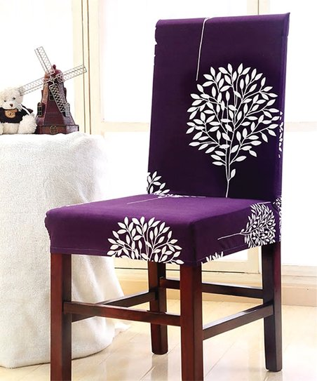 Strange Lexi Park Purple Livia Chair Cover Zulily Gmtry Best Dining Table And Chair Ideas Images Gmtryco