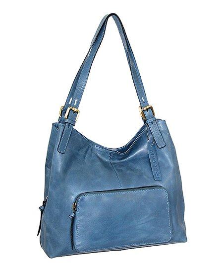 Nino Bossi Handbags Blue Zaya Leather Satchel Zulily