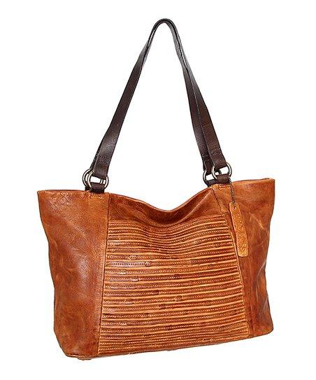 Cognac Camilla Leather Tote