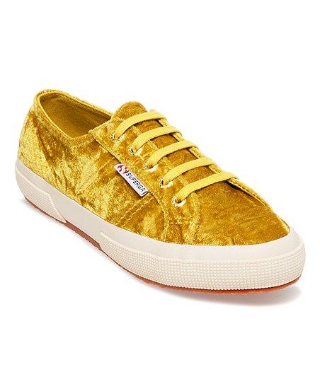 crushed velvet sneakers