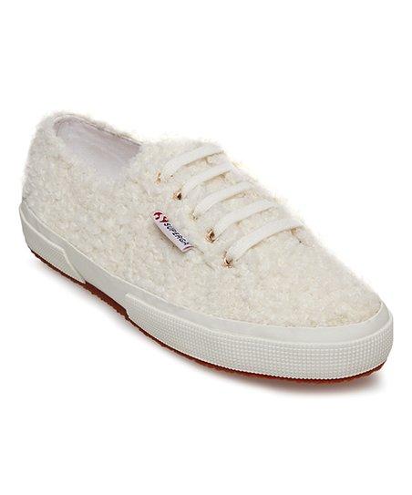 Superga White Curly Sneaker - Women