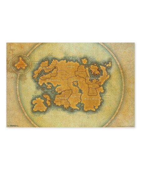 Trends International Elder Scrolls Online Tamriel Map Poster   zulily
