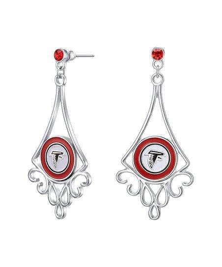 b75b062c Simran Atlanta Falcons Rhinestone Filigree Drop Earrings
