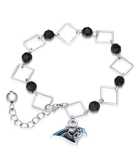 27f608b66c3 Simran Carolina Panthers Rhinestone & Silvertone Bracelet   Zulily