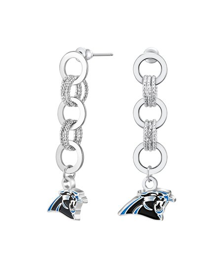 2e6a8f3e0b0 Simran Carolina Panthers Silvertone Logo Drop Earrings | Zulily