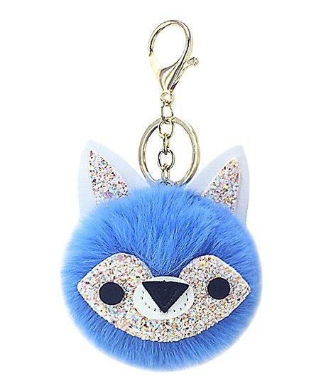 Ella   Elly Blue Glitter Fox Key Chain  abf510d54