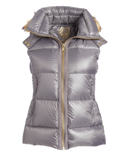 03df5a562cf love this product Chrome Faux Fur Hooded Down Vest - Women