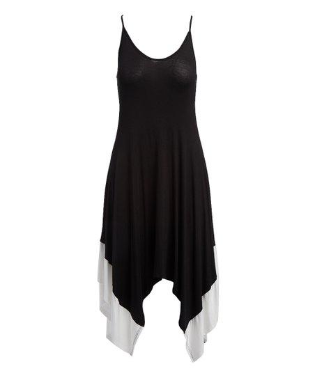 0c1e5cdd642 love this product Black   White Handkerchief Dress - Women   Plus