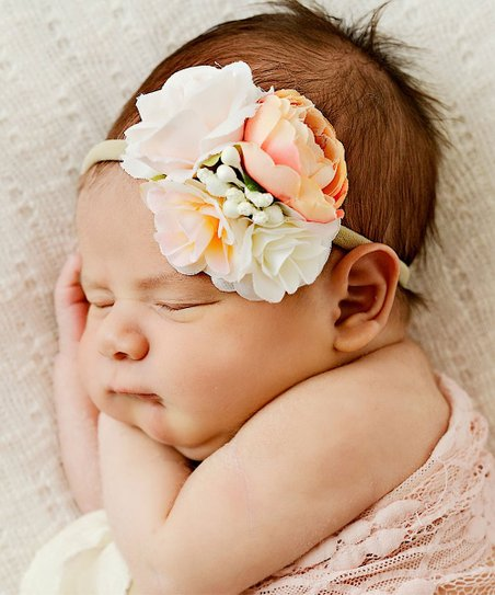 love this product Pink   Peach Floral Headband 1f7326ea168