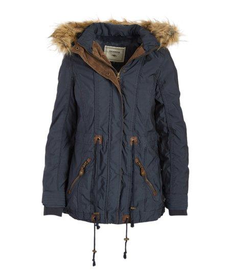 eb7e2943aa02 Snobbish Charcoal Faux Fur-Trim Fleece-Lined Anorak Jacket - Juniors ...