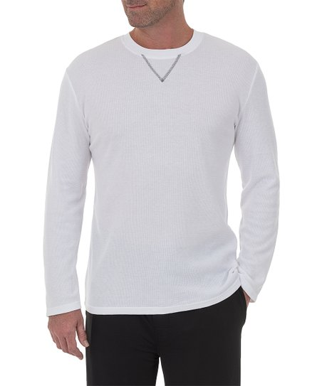 love this product White Waffle Knit Long Sleeve Sleep Shirt - Men c615e1b5b