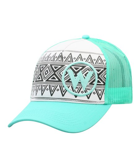 076193028c5e5 love this product White   Blue Circle W Five-Panel Trucker Hat