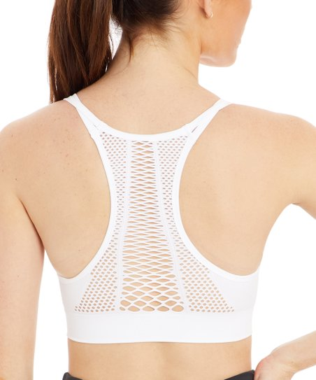eec2c0211d love this product White Skylar Racerback Sports Bra