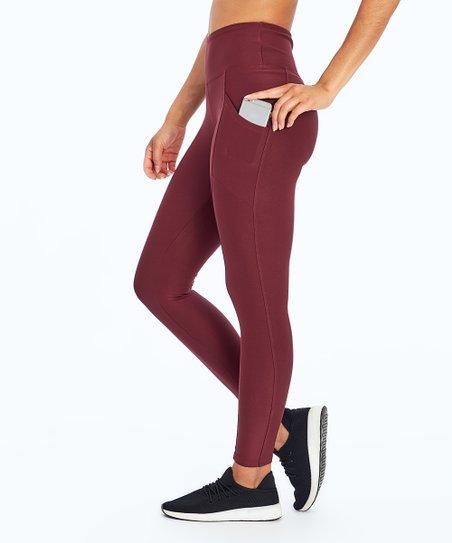 991f6d564ba340 Marika Fig Solid Pocket Tummy-Control Leggings - Women   Zulily