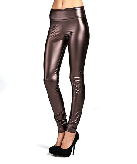 b7389c18d34d7c Active USA Brown Pleather Leggings - Women | Zulily