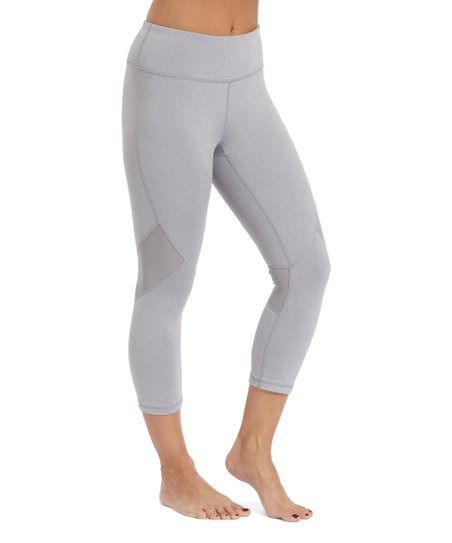 7e237402ee567 Reebok Gray Heather Reflection Capri Leggings - Women | Zulily