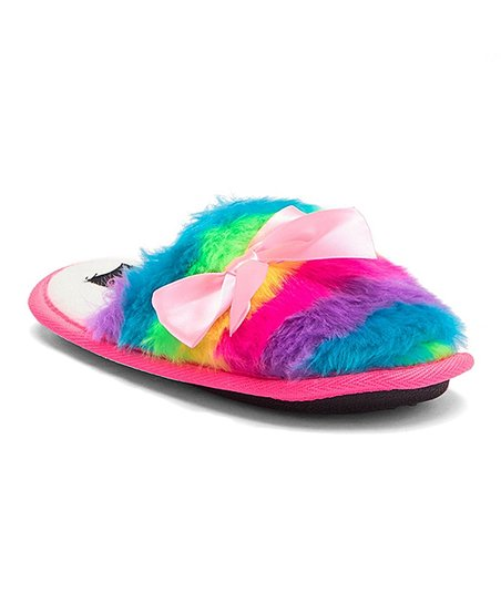 f29285b5030c love this product Rainbow Faux Fur Jojo Siwa Slipper - Kids