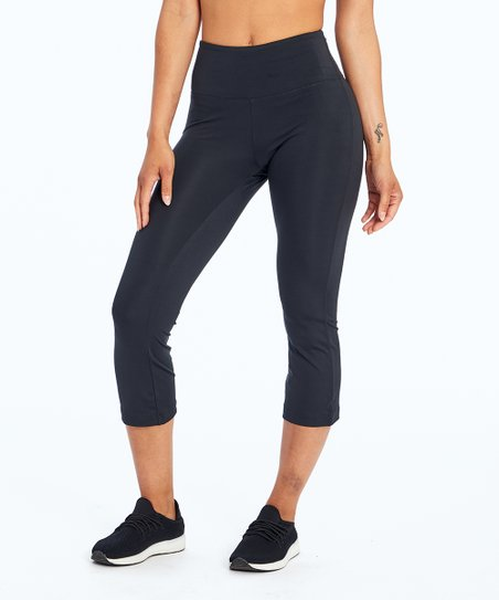 efe65aade959d Balance Collection Black Flare-Hem Hattie Capri Leggings - Women ...