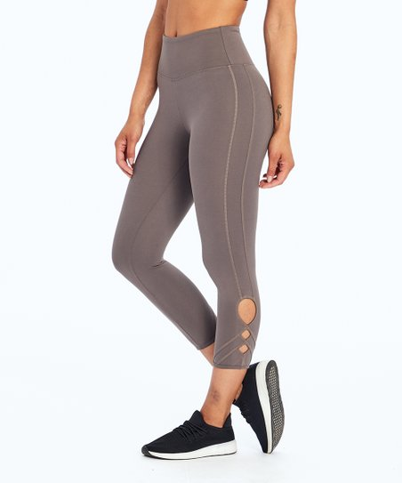 0c8f0d2a5c9c4f Balance Collection Plum Kitten Cutout Miranda Capri Leggings - Women ...