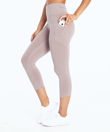 83d1a778dd7a9 love this product Quail Pocket Tummy-Control High-Waist Crop Leggings -  Women