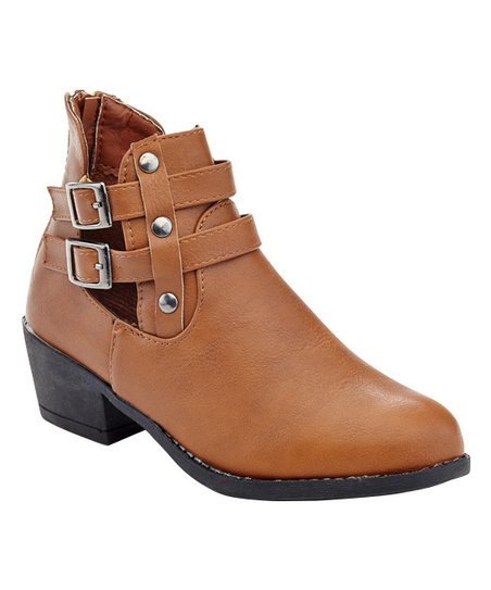 2afd040ad2c6e COCO Jumbo Tan Cut Out Cassie Ankle Boot - Girls | Zulily
