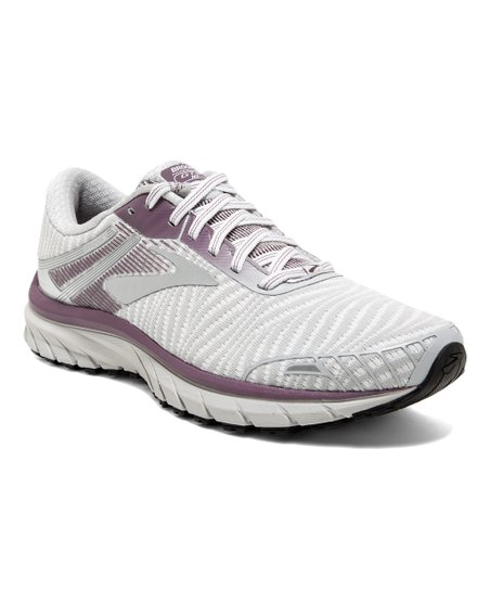 wholesale dealer 2c069 7e168 Brooks White & Purple Adrenaline GTS 18 Running Shoe - Women