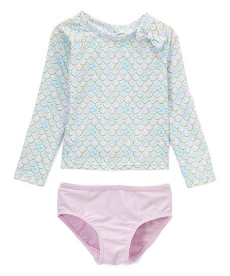 56c1e50fa7d5d Sol Swim Blue   Pink Sparkle Mermaid Rashguard Set - Infant