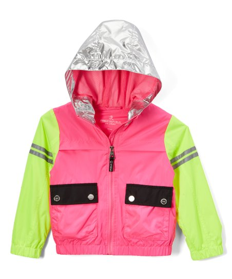 dd0b55aff6e love this product Fuchsia & Lime Zip-Up Hooded Windbreaker - Infant,  Toddler & Girls