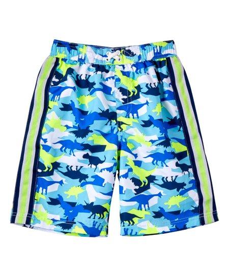 031c3dd004143 love this product Navy Dino Camo Swim Trunks - Toddler & Boys