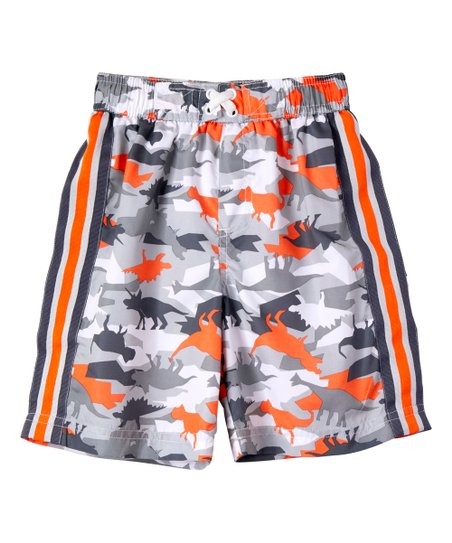 5bde15b4ca love this product Charcoal Dino Camo Swim Trunks - Infant & Toddler