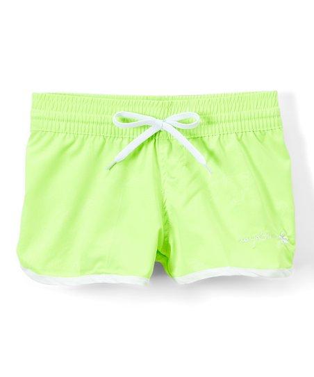 bd86bf4294 Raya Sun Lime Surf Shorts - Girls   Zulily