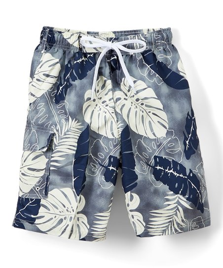 b96e8ca6c6 RS Surf Gray Big Leaf Boardshorts - Boys | Zulily
