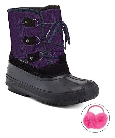 love this product Purple Duck Snow Boot   Pink Earmuff - Girls 1b0288d9d