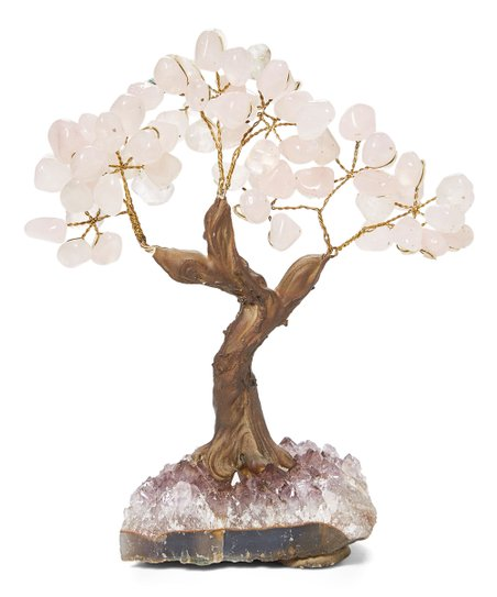 From The Mines Tumbled Rose Quartz Bonsai Tree Best Price And Reviews Zulily
