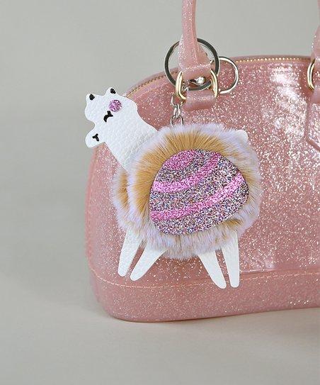 Whitney Elizabeth White   Pink Fluffy Glitter Llama Key Chain  114126414a34