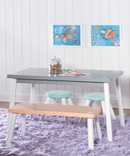 Terrific Powell Company Orange Gray Childrens Table Set Creativecarmelina Interior Chair Design Creativecarmelinacom