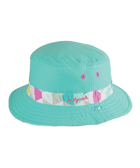 love this product Teal   Pink Geometric Reversible Bucket Hat - Toddler    Girls 9b05aa0faf15