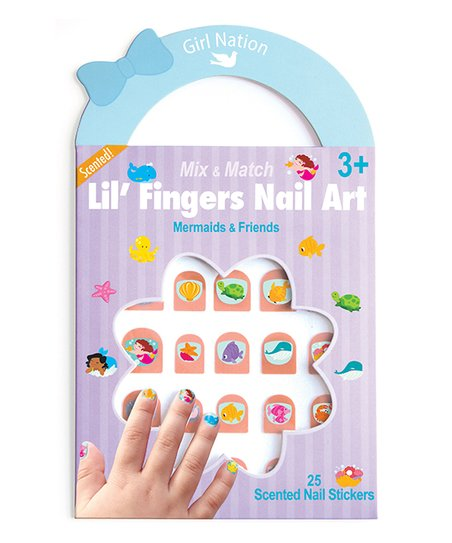 3035e2204 Mermaid Friends Lilfingers Nail Art Set Of Two Zulily