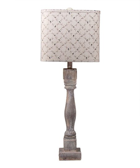 Albert Estate Ltd Home Gray Weathered Square Shade Table Lamp Zulily