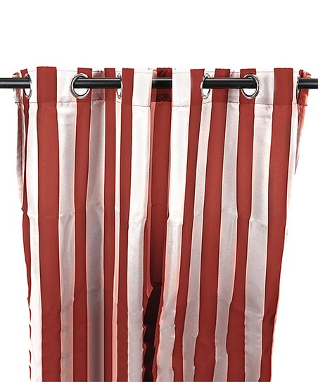 Jordan Manufacturing Pompeii White Stripe Curtain Panel Zulily