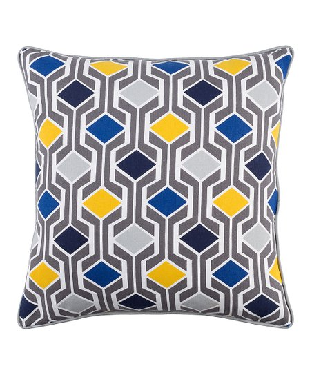 Brilliant Light Gray Blue Geometric Inga Throw Pillow Gmtry Best Dining Table And Chair Ideas Images Gmtryco