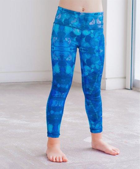 597e58905eeb6 Jill Yoga Aqua Butterfly Effect Leggings - Toddler & Girls | Zulily
