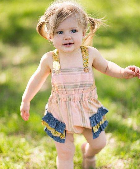 899ef38e2 love this product Peach & Blue Garden Grove Romper - Newborn & Infant