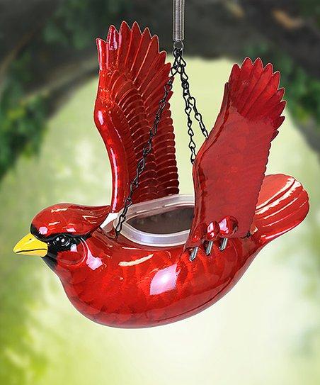 Red Cardinal Bird Feeder/Planter